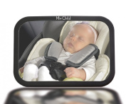 Baby Back Seat Mirror - Ease Of Mind While You Drive - Safety Backseat Mirror For You and Your Baby - Ideal For Rear Facing Car Seat - Fits Most Headrests - Best Adjustable Mirror To Have A Constant View Of Your Loved One - Quick and Easy Instal - Sha ..