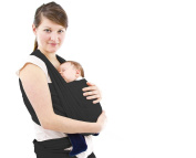 Ultimate Comfort Baby Wrap Carrier in Black ~ The Original 100% Organic Cotton Soft Baby Wrap Carrier ~ BEST GIFT FOR A BABY SHOWER AND THE. Safe, Soft Fabric That Keeps Babies Warm and Comfortable ~ Soothe and Bond with Your Baby ..