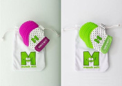 Purple & Green Munch Mitt Baby Teething Mitten - Baby Teether