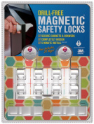 Drill Free Baby Cabinet Locks⎟Uses Super Strength Adhesive By 3M to Secure Cabinet Doors & Drawers⎟Simple 5 Minute Installation (Per Lock) With No Tools Necessary⎟Baby Proofing Safety Has Never Been Easier⎟In ..