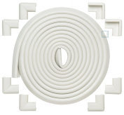 """Roving Cove® 5.5m Edge + 8 Corners EXTRA PURE, EXTRA DENSE, EXTRA LONG """"Safe EdgeTM and Corner Cushion"""" - JUMBO PACK - OYSTER; Premium Childproofing Edge Corner Guard - Child Safety Home Safety Furniture and Table Edge Corner Protectors"""