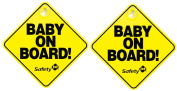 """Safety 1st """"Baby On Board"""" Sign, 2-Pack"""