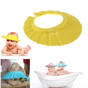 Domire 3 PCS Adjustable Soft Baby Kids child Children Shampoo Bath Shower wash hair Waterproof Eye Shield Cap Hat Shield sun cap Tub Bathtub Visor for Toddler