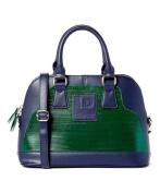 Recycled Eco-friendly, Satchel Bag Blue and Green