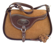 Equestrian Saddle Shaped Handbag Purse - Crafted in Carpincho Hide