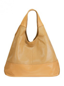 HALCYON Perforated Leather Triangular Tote-Style Shoulder Bag with Interior Zip Centre Divide