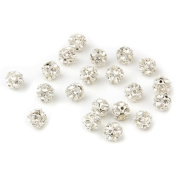 TOOGOO(R) 20pcs 8mm Jewellery Rhinestone Round Bead Rondelle Spacer