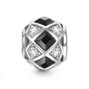 Soufeel 925 Sterling Silver Black And White Magic Charm Fits European Charms Bracelets