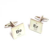 Retro Periodic Table Beer Design Cufflinks