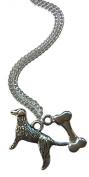 Golden Retriever And Bone Necklace