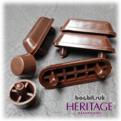 Heritage WC Wood Seat Buffer set in Mahogany for Wooden Seats HBP-M