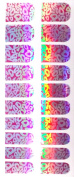 Fashion Metallic Nail Foils, Pack of 20 wraps, Hot Pink Silver Abstract