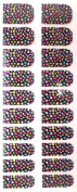 Bling Nail Foils, Pack of 20 wraps, Multicoloured Mosaic