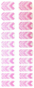 Bling Nail Foils, Pack of 20 wraps, Pink Chevron