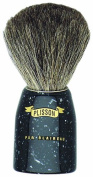 Plissons 5702 Shaving Brush - Size 10 - Black Handle with Pure Grey Bristles