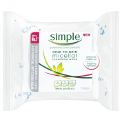 Simple Kind to Skin Micellar Cleansing Wipes 25s Pack of 3