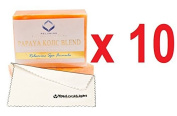 (Pack of 10)Relumins Triple Papaya Kojic Whitening Bar soap