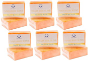 (Pack of 6)Relumins Triple Papaya Kojic Whitening Bar soap