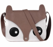 Bigood Fox Carton Retro Shoulder Messenger Bag Crossbody Satchel Handbag
