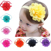 Malloom® 8Pcs Baby Girls Flower Headbands Photography Props Headband