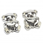 Silver Plated First Tooth & Curl Teddy Baby Keepsake Gift Set