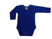 BabywearUK Body Vest Env Neck Long Sleeved - Royal blue - 18-24 months - British Made