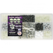 Beadery B6524 579-Piece Bead Box Kit, 180ml, Glow Skulls