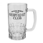 123t Mugs OFFICIAL MEMBER ... GRUMPY OLD GIT CLUB 470ml Clear Glass Beer Mug/Stein