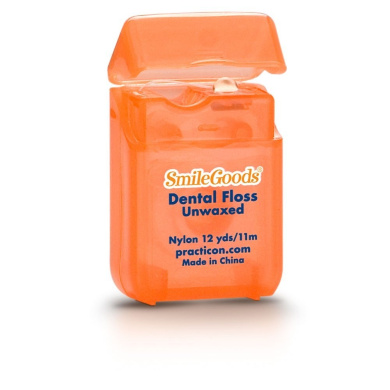 Practicon 7045201 SmileGoods Unwaxed Floss, 12 yd. (Pack of 72)