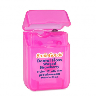 Practicon 7045209 SmileGoods Strawberry Floss, 12 yd. (Pack of 72)