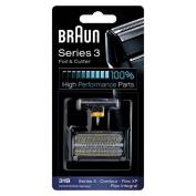 31B BRAUN 5000/6000 Series Contour Flex XP Integral Shaver Foil & Cutter Head Replacement Combi Pack Black