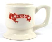 Col Ichabod Conk White Ceramic Shaving Mug on Pedestal