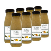 Nosh Detox 'The Raw Veggie' - 8 x 250ml Courgette, Pineapple & Mint Green Smoothie Detox Drink to Help Eliminate Fat