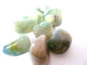 Tumbled Quantum Quattro Quartz Tumble Stone - A Grade Quality Crystal - Aligns the chakras - Made up of Smoky Quartz, Chrysocolla, Malachite, Shattukite & Silica - Free Postage! 5 Stone Pack