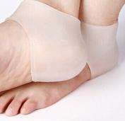 Ewin24 1 Pair Gel Heel Sleeve Moisturising Silicone Socks Heel Ankle Pain Relief Cushion