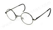 i*sunglasses.com Round John Lennon Glasses Curly Cable Temples Gunmetal/Clear M