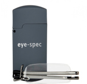 eye-pocket by eye-spec | rimless reading glasses with flip-top case available in graphite and black (+1.00, +1.25, +1.50, +1.75, +2.00, +2.25, +2.50, +2.75, +3.00)
