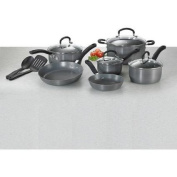 Hard Anodized Nonstick Thermo-Spot Heat Indicator Cookware Set, 12-Piece, Grey