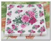 Medium Food-grade Pink Rose Paper Napkin Festive & Party Tissue Napkin Supply Decoration, 20pcs/pack