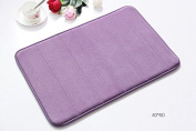 "Homat Comfortable Water-absorbing Bathroom Mat Washable Living Room Non-Slip Plush Rug Floor Carpets Approx.40*60cm(15.7""x23.6""inches) Colour Purple"