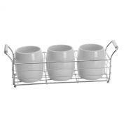 Towle Living Ceramic Wire Flatware Caddy Set, White