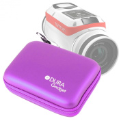 DURAGADGET Exclusive Hard Shell EVA Box-Style Case in Purple for the NEW TomTom Bandit Action Camera
