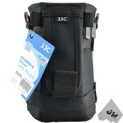 JW DLP-5 Deluxe Lens Pouch Case Bag for CANON ZOOM LENS EF 70-300mm 1:4-5.6L IS USM EF 28-300mm 1:3.5-5.6 L IS USM EF 70-200mm 1:4L USM ULTRASONIC + JW emall Micro Fibre Cleaning Cloth