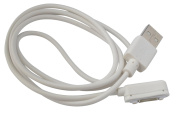 Magnetic Charging Cable Charger for Sony Xperia Z1 L39h Z Ultra XL39h Z2 Z1 Compact Z2 Tablet Z3, Z3 Tablet 1 Metre in White by OKCS