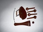 4/4 Violin Boxwood Parts, Kaufmann, Stained with Black Trim, Includes Adjustable Gut VWWS