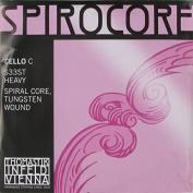 Thomastik Spirocore Cello Strings - C, 4/4, Tungsten/Steel, Medium, Ball