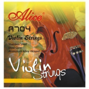 Quality VIOLIN STRINGS full set aluminium wound 4/4 and 3/4 size E A D G