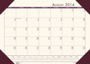 House of Doolittle EcoTone Academic Desk Pad Calendar 33cm x 47cm Cream 12 Months August 2014 to July 2015 Recycled Materials