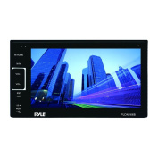Pyle PLDNV66B 17cm Video Headunit Receiver GPS Navigation Bluetooth Wireless Streaming CD/DVD Player Double DIN
