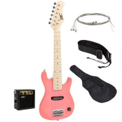 80cm Kids Pink Electric Guitar with Amp & Much More Guitar Combo Accessory Kit